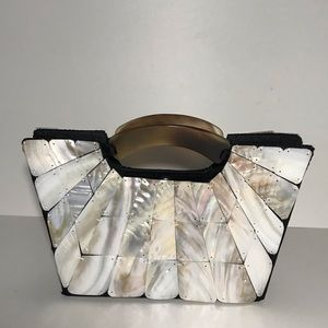 Mad Bags shell small clutch wearable art